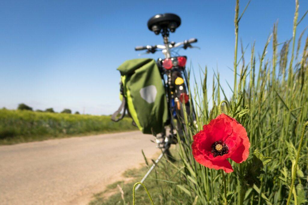 onderweg met de fiets